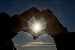 Puesta del sol romántica Imagen de archivo
