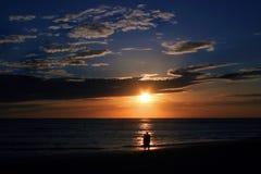 Puesta del sol romántica Imágenes de archivo libres de regalías