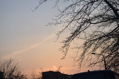 Puesta del sol romántica en Pekín Imagenes de archivo