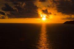 Puesta del sol romántica en Santiago de Cuba Imágenes de archivo libres de regalías