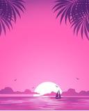 Puesta del sol rosada Fotografía de archivo libre de regalías