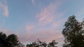 Puesta del sol rosada Imagenes de archivo