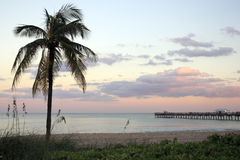 Puesta del sol del Lauderdale-por--Mar, la Florida Imagenes de archivo