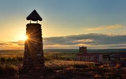 Puesta del sol rural Imagenes de archivo