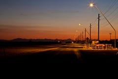 Puesta del sol rural de Arizona imagen de archivo libre de regalías