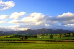 Puesta del sol rural maravillosa Fotografía de archivo libre de regalías
