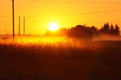 Puesta del sol rusa Fotos de archivo libres de regalías