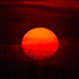 Puesta del sol/salida del sol Imagen de archivo libre de regalías