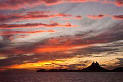 Puesta del sol San Carlos México Imagenes de archivo