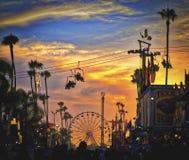 Puesta del sol, San Diego County Fair, California Foto de archivo libre de regalías