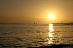 Puesta del sol Santa Barbara Foto de archivo