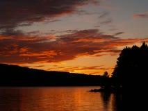 Puesta del sol septentrional Foto de archivo