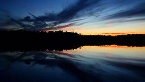 Puesta del sol septentrional Cloudscape de Wisconsin almacen de video