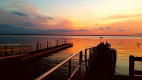Puesta del sol serena Imagen de archivo libre de regalías