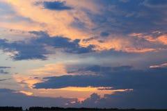 Puesta del sol severa Imagen de archivo