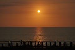 Puesta del sol siciliana imagenes de archivo