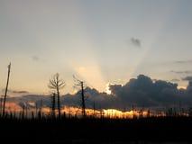 Puesta del sol sin vida Fotos de archivo libres de regalías
