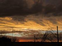 Puesta del sol siniestra Fotos de archivo libres de regalías