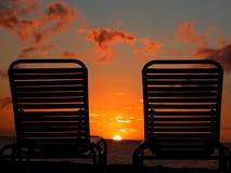 Puesta del sol soñadora Fotografía de archivo libre de regalías