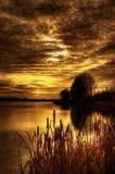 Puesta del sol soñadora Imagen de archivo libre de regalías