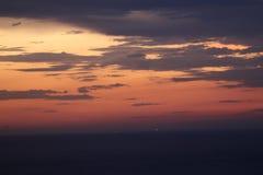 Puesta del sol sobre África imagen de archivo