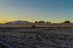 Puesta del sol sobre Blencathra Fotos de archivo libres de regalías