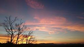 Puesta del sol sobre Byron Bay Hinterland Fotografía de archivo libre de regalías