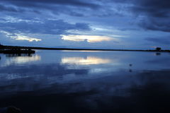Puesta del sol sobre Chobe Fotografía de archivo