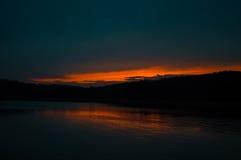 Puesta del sol sobre Clemson Fotografía de archivo