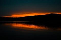 Puesta del sol sobre Clemson Foto de archivo
