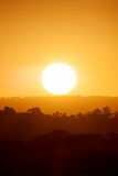 Puesta del sol sobre Currumbin, Gold Coast imagen de archivo libre de regalías