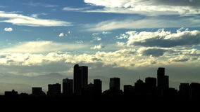 Puesta del sol sobre Denver