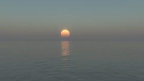 Ajuste tranquilo del sol Fotografía de archivo libre de regalías