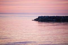 Puesta del sol sobre el Balticsea fotografía de archivo libre de regalías