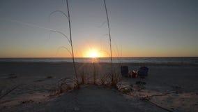Puesta del sol sobre el Golfo de México almacen de video