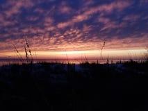 Puesta del sol sobre el golfo de México fotografía de archivo