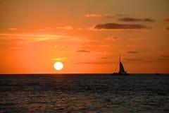 Puesta del sol sobre el mar, Key West, la Florida foto de archivo libre de regalías