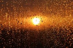 Puesta del sol sobre el vidrio Fotografía de archivo