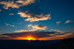 Puesta del sol sobre Grand Canyon fotos de archivo