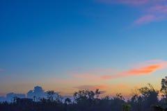 Puesta del sol sobre Haití Imagen de archivo libre de regalías