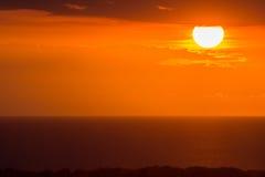 Puesta del sol sobre Haití Fotos de archivo libres de regalías