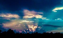Puesta del sol sobre Kentucky Imagen de archivo libre de regalías