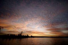 Puesta del sol sobre la ciudad de Gold Coast Foto de archivo