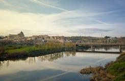 Puesta del sol sobre la ciudad histórica de Toledo, España Fotos de archivo libres de regalías