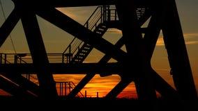 Puesta del sol sobre la ciudad moscú Imagen de archivo libre de regalías