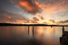 Puesta del sol sobre la costa central hermosa de Bensville, Australia foto de archivo libre de regalías
