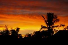 Puesta del sol sobre la Florida Imagen de archivo libre de regalías