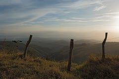 Puesta del sol sobre la nube Forest Reserve de Monteverde en Costa Rica Fotografía de archivo libre de regalías