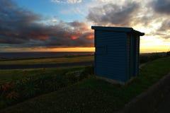 Puesta del sol sobre las Azores Imagen de archivo libre de regalías