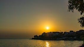Puesta del sol sobre Marmaras Fotografía de archivo